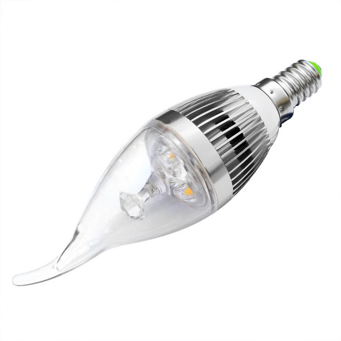 JIAWEN Dimmable E14 3W LED Bulb Warm White Light 300lm 3-LED - SilverE14<br>Form  ColorSilverColor BINWarm WhiteMaterialAluminum + PlasticQuantity1 DX.PCM.Model.AttributeModel.UnitPower3WRated VoltageAC 85-265 DX.PCM.Model.AttributeModel.UnitConnector TypeE14Chip BrandEpistarEmitter TypeLEDTotal Emitters3Theoretical Lumens270-300 DX.PCM.Model.AttributeModel.UnitActual Lumens270-300 DX.PCM.Model.AttributeModel.UnitColor Temperature12000K,Others,3000-3200KDimmableYesBeam Angle180 DX.PCM.Model.AttributeModel.UnitPacking List1 x Lamp<br>