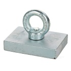 80*60*17mm NdFeB Eyebolt CiR/Cular Ring Magnet for Salvage - Silver