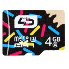 L.Data LD C6 Super High Speed Micro SD Card (4GB UHS-I) - Black