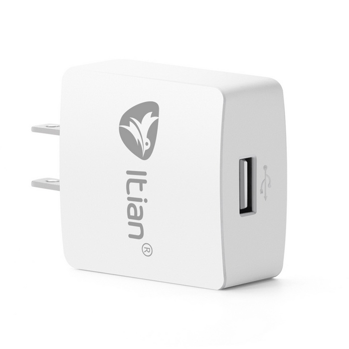 Itian Premium Design US Plugss Quick Charge 2.0 15W Wall Charger - White