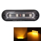 MZ 12W 4-LED Waterproof Car Truck Strobe Emergency Warning Flashing Light Yellow 597nm 720lm (12V)