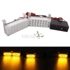 MZ 22-LED 5W 3-Flashing Modes Yellow Car Strobe Emergency / Waring / Fog / Daytime Running Lights