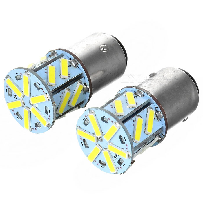 1157 2W 120lm 18-SMD Cold White LED Car Brake / Steering Light (2PCS)