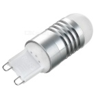 G9 2W LED Bulb Lamp Warm White Light 3200K 6-SMD - White + Silver