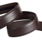 Vaca Split couro dos homens cinto w / Automatic Ratchet Buckle - Brown
