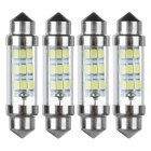 Festoon 40mm 0.3W LED Car Reading Lamps Cool White 26820K 35lm 9-SMD 1206 (12V / 4 PCS)