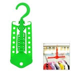 Creative Portable Clothes Hanger Drying Rack Hook for Travel / Outdoor Camping - Green