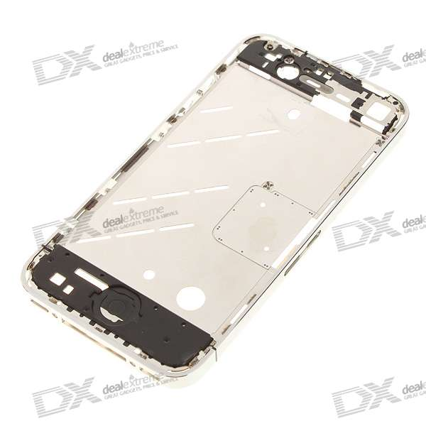 Genuine Replacement Middle Plate for Iphone 4 - Black + Silver ia73 original chassis middle housing frame for iphone 4 silver