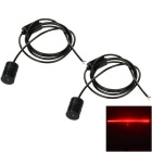 Universal Car Laser Diode Fog Lamp Red Light - Black (2PCS / 12V-24V)
