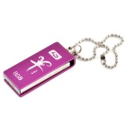L.Data LD V06 Waterproof Shake-proof USB 2.0 Flash Drive - Silvery Purple (8GB)