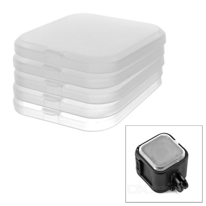 Lens Cap Cover for GoPro Hero 4 Session - Translucent White (5 PCS)Lenses &amp; Lenses Accessories<br>Form  ColorTranslucent WhiteLens DiameterOthersQuantity5 DX.PCM.Model.AttributeModel.UnitMaterialPPShade Of ColorTransparentCompatible ModelsOthers,GoPro Hero 4 SessionPacking List5 x Lens caps<br>
