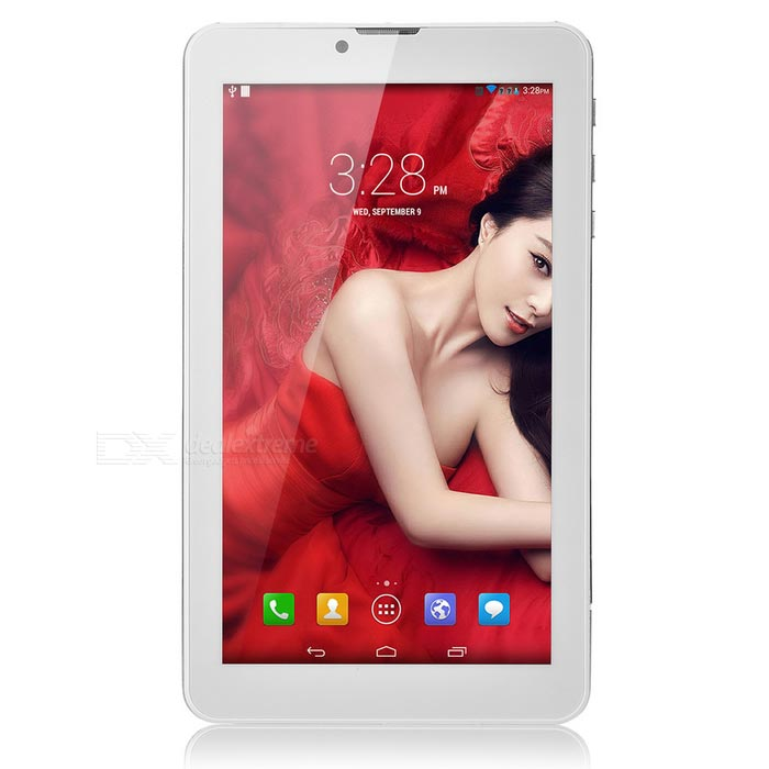 "7"" Android 3G Tablet PC w/ 512MB, 8GB ROM, GPS, BT - White + Golden"