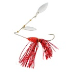 FURA Willow Blades Sequins Fishing Spinner Bait Lure Spinnerbait - Red