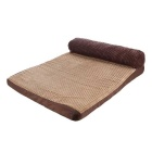 HOOPET Removable and Washable Dog Bed for Medium / Large Breed Dogs - Light Brown + Dark Brown