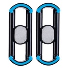 Universal Car Air Vent / Mount Holder for IPHONE / Sony / Android Phones - Black + Blue (2PCS)