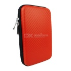 "Protective Shockproof PU + EVA Storage Bag for 2.5"" HDD / Mobile Power / USB Devices - Red"