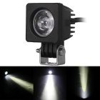 Wired 10W 1-LED 60 Degrees 6000K 850lm Square Work Light Spotlight for Car (10~30V)
