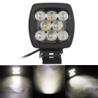 80W White Flood Beam 8000lm 6000K 8-LED Off-road 4WD UTV Worklight Bar Lamp w/ Lens (DC 10~30V)