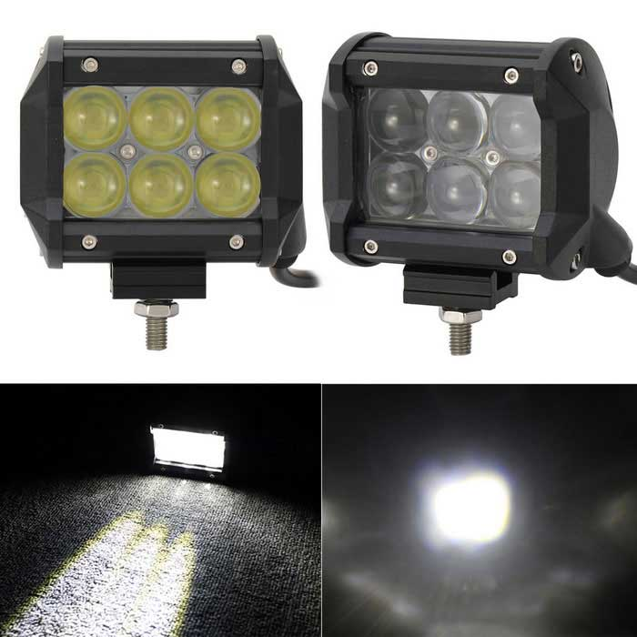 Spot 30W 6-LED off-road 4WD luz de barra de worklight UTV - preto (10 ~ 30V dc)