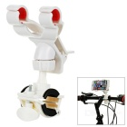 "Motorcycle Handlebar Mount Holder Clamp for Max. 7.9"" Mobile Phones - White"