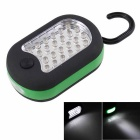Multifunction 24 + 3 LED White Light Camping / Magnet Hook Working Lamp - Black + Green (3 x AAA)