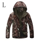 Men's Outdoor Loose Big Leisure Warm Wind-proof Polyester Coat - Camouflage (L)