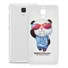 Cool Panda Pattern Protective Soft TPU Back Case Cover for Xiaomi Mi 4 - White + Transparent