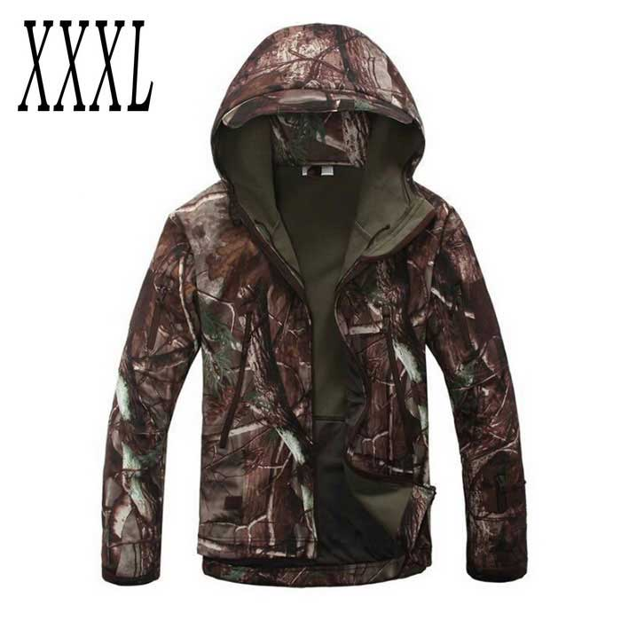 Men's Loose Big Leisure Wind-proof Polyester Coat - Camouflage (3XL)