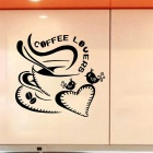 Coffee Lovers  Wall Decals PVC Wall Stickers - Black