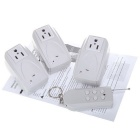 3-in-1 Wireless Remote Control AC Power Switch Socket - White