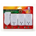 3-in-1 Wireless Remote Control Power Switch Socket - White