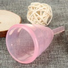 Small Clear Medical Grade Silicone Menstrual Cup - Pink (S)