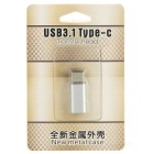USB 3.1 Type-C to Micro USB 5Pin Data Sync / Charging Adapter - Silver