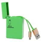 Lighter Style Micro USB 5Pin / USB 2.0 Charging Cable - Green