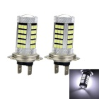Marsing H7 20W LED Car Front Fog Lamp Bulb White Light 6500K 2000lm 63-SMD 2835 (12~24V / 2pcs)