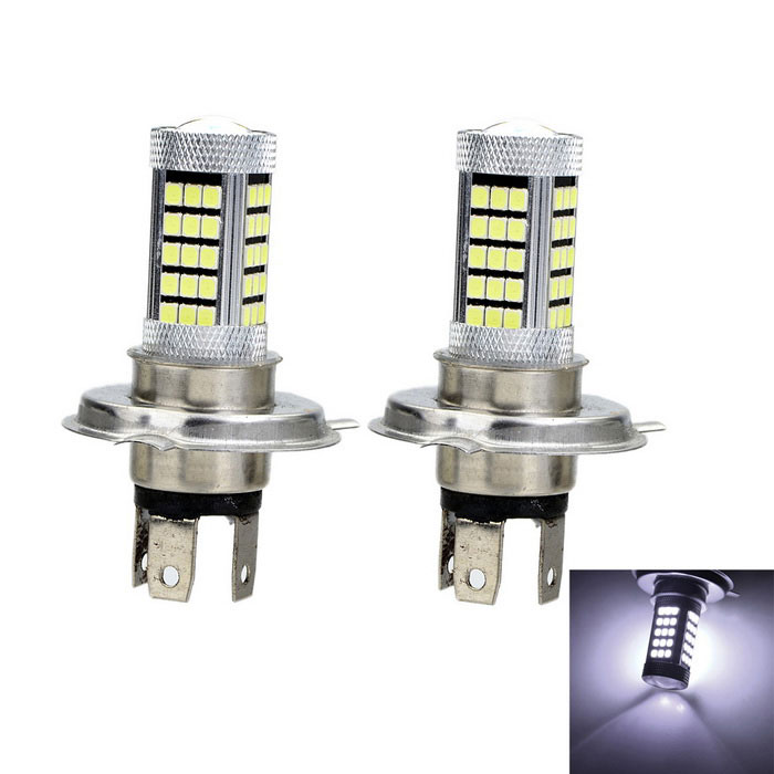 Marsing H4 20W LED Car Front Fog Lamp Bulb White 2000lm 63-SMD (2PCS)