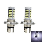 Marsing H4 20W LED Car Front Fog Lamp Bulb White Light 6500K 2000lm 63-SMD 2835 (12~24V / 2pcs)