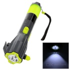Multifunction Car Safety Hammer + Belt Cutter + LED Flashlight + Compass + Power Charger Tool - Grey