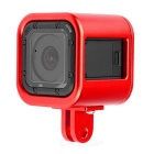Aluminum Alloy Protective Cage Housing Case for GoPro Hero 4 Session - Red