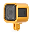 Aluminum Alloy Protective Cage Housing Case for GoPro Hero 4 Session - Golden