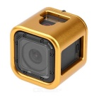 Aluminum Alloy Cage Housing Case for GoPro Hero 4 Session - Golden