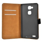 Mini Smile Protective Split Leather Case for Huawei Mate 7 - Black