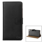 Protective Flip-Open Split Leather Case w/ Card Slot for Huawei P8 - Black