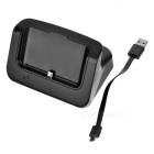 L-Shape Charging Dock w/ Charging Cable for Samsung S6 Plus - Black