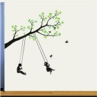 Fashion Swing PVC Wall Decals / Stickers - Green + Black