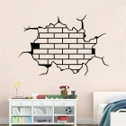 Creative 3D Patterned Decals Living Room Bedroom Wall Sticker - Black