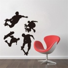 DIY Black Skater Boy Sport Home Decor Wall Sticker - Black