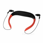 2-in-1 IPX8 Waterproof Sports Headset Headphone MP3 Player w/ 4GB Memory / FM - Black + Red