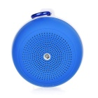 Outdoor Portable Handsfree Subwoofer Wireless Bluetooth Speaker w/ Radio Card Slot - Blue + White