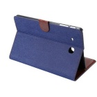 PU Leather Wallet Case for Samsung Galaxy Tab E 9.6 T560 - Deep Blue